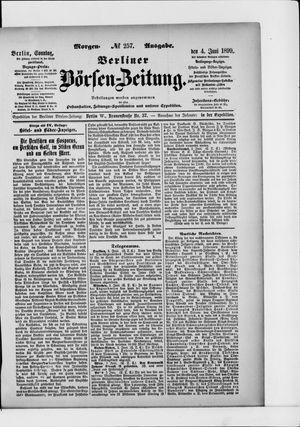 Berliner Börsen-Zeitung vom 04.06.1899