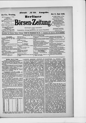 Berliner Börsen-Zeitung vom 06.06.1899