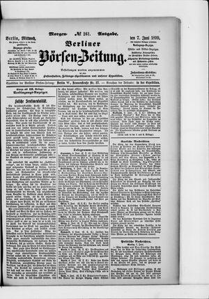 Berliner Börsen-Zeitung vom 07.06.1899