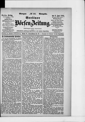 Berliner Börsen-Zeitung vom 09.06.1899
