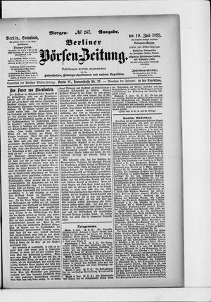 Berliner Börsen-Zeitung vom 10.06.1899