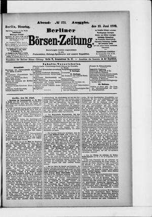 Berliner Börsen-Zeitung vom 13.06.1899