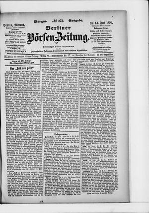 Berliner Börsen-Zeitung vom 14.06.1899