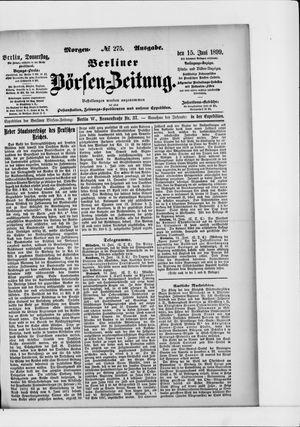 Berliner Börsen-Zeitung vom 15.06.1899