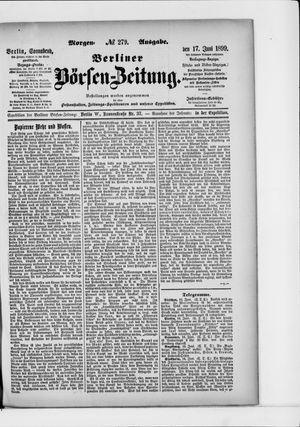 Berliner Börsen-Zeitung vom 17.06.1899