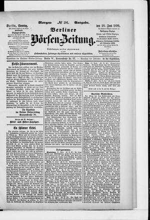 Berliner Börsen-Zeitung vom 18.06.1899