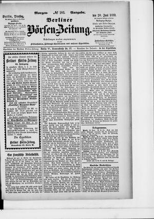 Berliner Börsen-Zeitung vom 20.06.1899