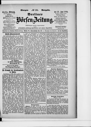 Berliner Börsen-Zeitung vom 21.06.1899