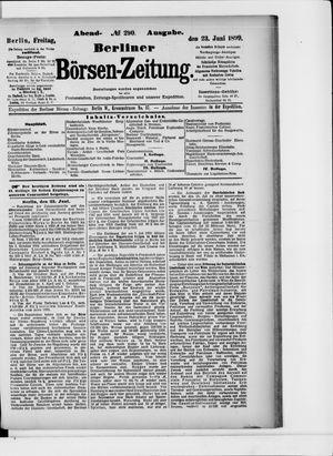 Berliner Börsen-Zeitung vom 23.06.1899