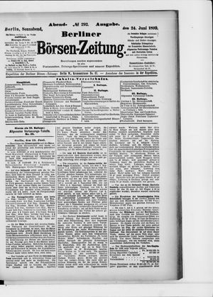 Berliner Börsen-Zeitung vom 24.06.1899