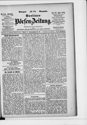 Berliner Börsen-Zeitung vom 25.06.1899