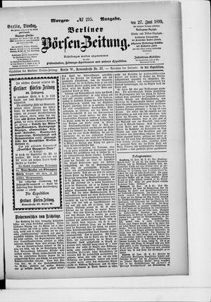 Berliner Börsen-Zeitung vom 27.06.1899