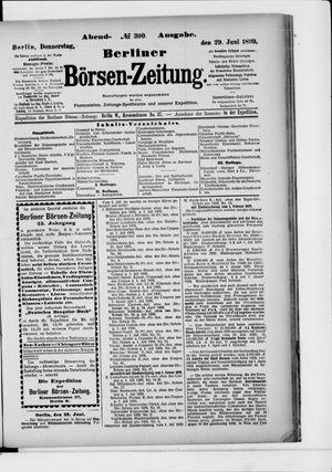 Berliner Börsen-Zeitung vom 29.06.1899