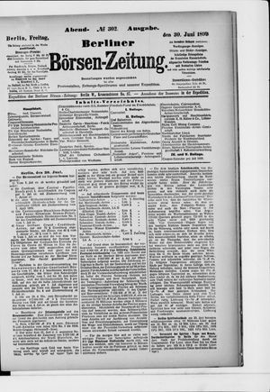 Berliner Börsen-Zeitung vom 30.06.1899