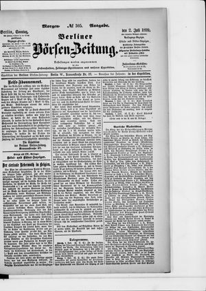Berliner Börsen-Zeitung vom 02.07.1899