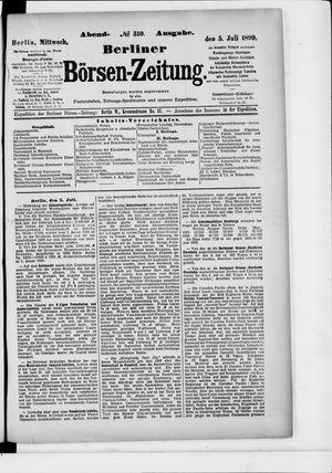 Berliner Börsen-Zeitung vom 05.07.1899