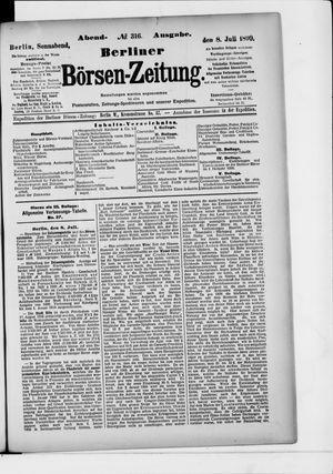 Berliner Börsen-Zeitung vom 08.07.1899