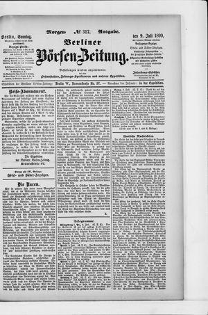 Berliner Börsen-Zeitung vom 09.07.1899