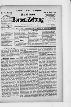 Berliner Börsen-Zeitung vom 10.07.1899