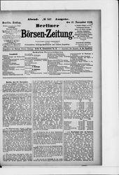 Berliner Börsen-Zeitung (17.11.1899)