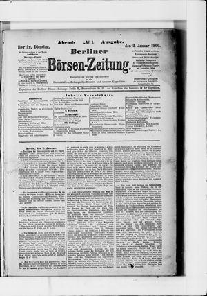 Berliner Börsen-Zeitung vom 02.01.1900