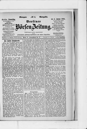 Berliner Börsen-Zeitung vom 04.01.1900