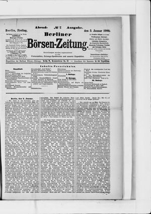 Berliner Börsen-Zeitung vom 05.01.1900