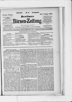Berliner Börsen-Zeitung vom 08.01.1900