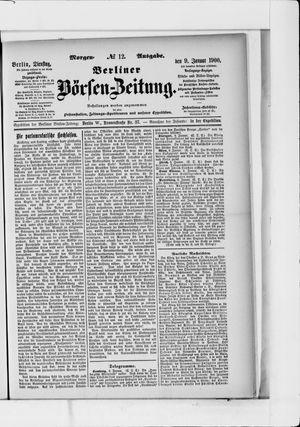 Berliner Börsen-Zeitung vom 09.01.1900