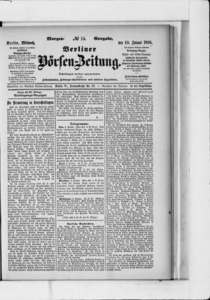 Berliner Börsen-Zeitung vom 10.01.1900
