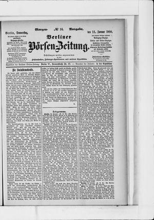 Berliner Börsen-Zeitung vom 11.01.1900