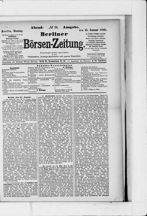 Berliner Börsen-Zeitung vom 15.01.1900