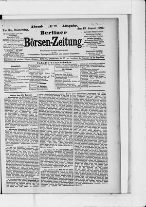 Berliner Börsen-Zeitung vom 18.01.1900