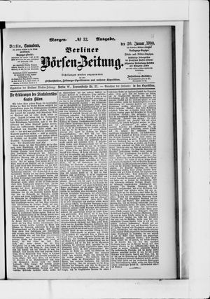 Berliner Börsen-Zeitung vom 20.01.1900
