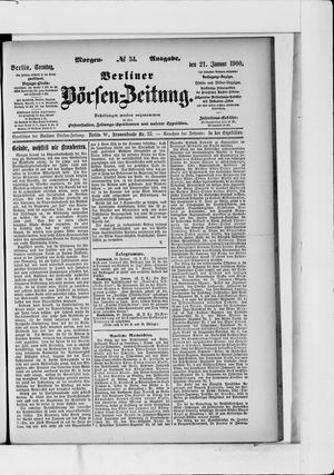 Berliner Börsen-Zeitung vom 21.01.1900