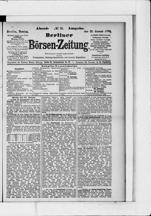 Berliner Börsen-Zeitung vom 22.01.1900