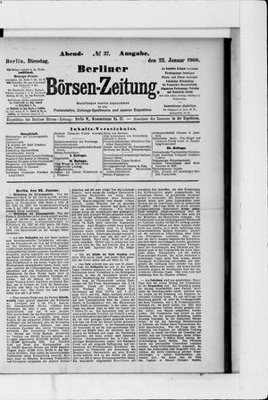 Berliner Börsen-Zeitung vom 23.01.1900