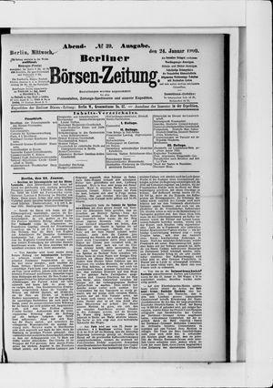 Berliner Börsen-Zeitung vom 24.01.1900
