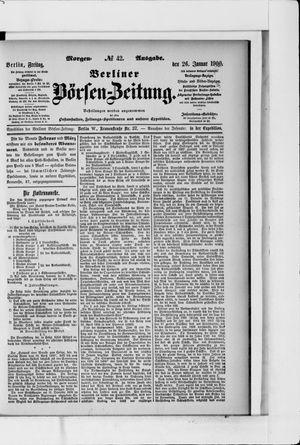 Berliner Börsen-Zeitung vom 26.01.1900