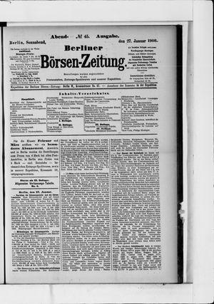 Berliner Börsen-Zeitung vom 27.01.1900