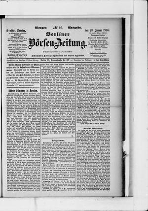 Berliner Börsen-Zeitung vom 28.01.1900