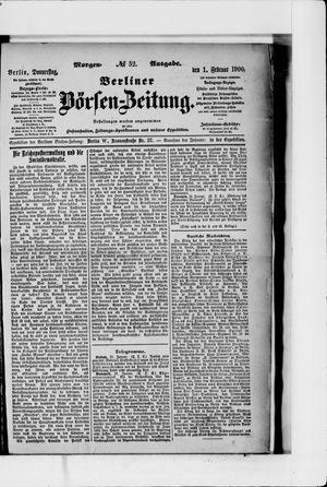 Berliner Börsen-Zeitung vom 01.02.1900
