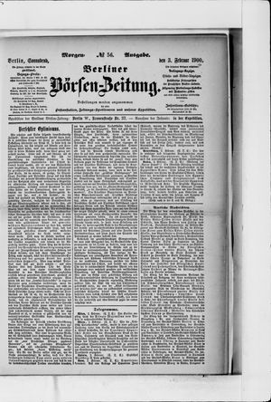 Berliner Börsen-Zeitung on Feb 3, 1900