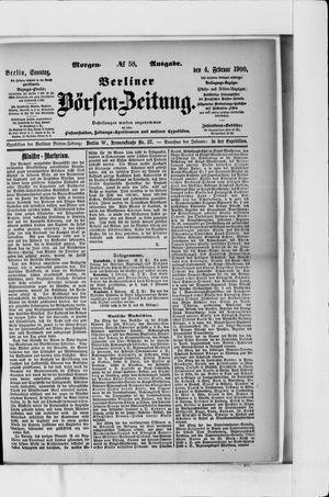 Berliner Börsen-Zeitung vom 04.02.1900