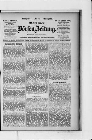 Berliner Börsen-Zeitung vom 10.02.1900