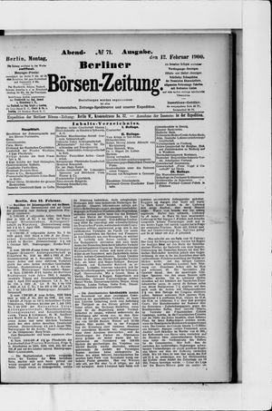 Berliner Börsen-Zeitung vom 12.02.1900