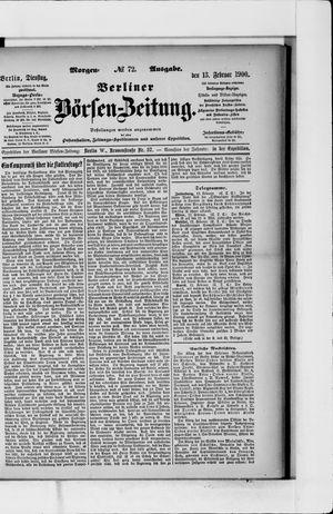 Berliner Börsen-Zeitung vom 13.02.1900
