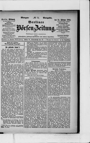Berliner Börsen-Zeitung vom 14.02.1900