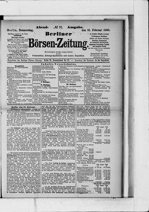 Berliner Börsen-Zeitung vom 15.02.1900