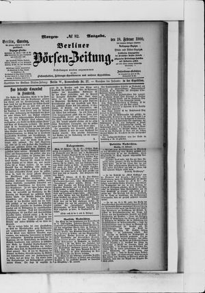 Berliner Börsen-Zeitung vom 18.02.1900